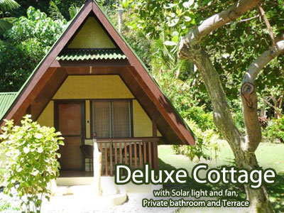 Deluxe Cottage with Solar light and fan, Private bathroom and Terrace