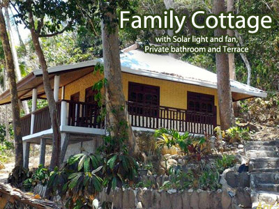 Family Cottage with Solar light and fan, Private bathroom and Terrace